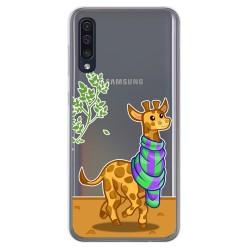 Funda Gel Transparente para Samsung Galaxy A50 / A50s / A30s diseño Jirafa Dibujos