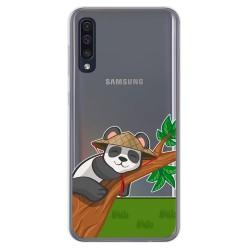 Funda Gel Transparente para Samsung Galaxy A50 / A50s / A30s diseño Panda Dibujos
