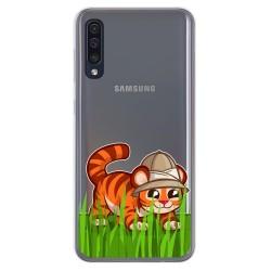 Funda Gel Transparente para Samsung Galaxy A50 / A50s / A30s diseño Tigre Dibujos