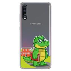 Funda Gel Transparente para Samsung Galaxy A70 diseño Coco Dibujos