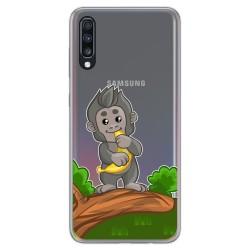 Funda Gel Transparente para Samsung Galaxy A70 diseño Mono Dibujos