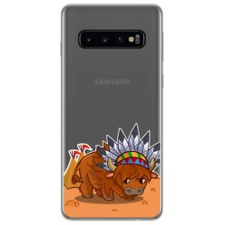 Funda Gel Transparente para Samsung Galaxy S10 diseño Bufalo Dibujos