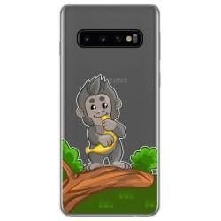Funda Gel Transparente para Samsung Galaxy S10 diseño Mono Dibujos