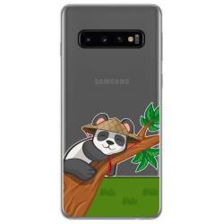Funda Gel Transparente para Samsung Galaxy S10 diseño Panda Dibujos