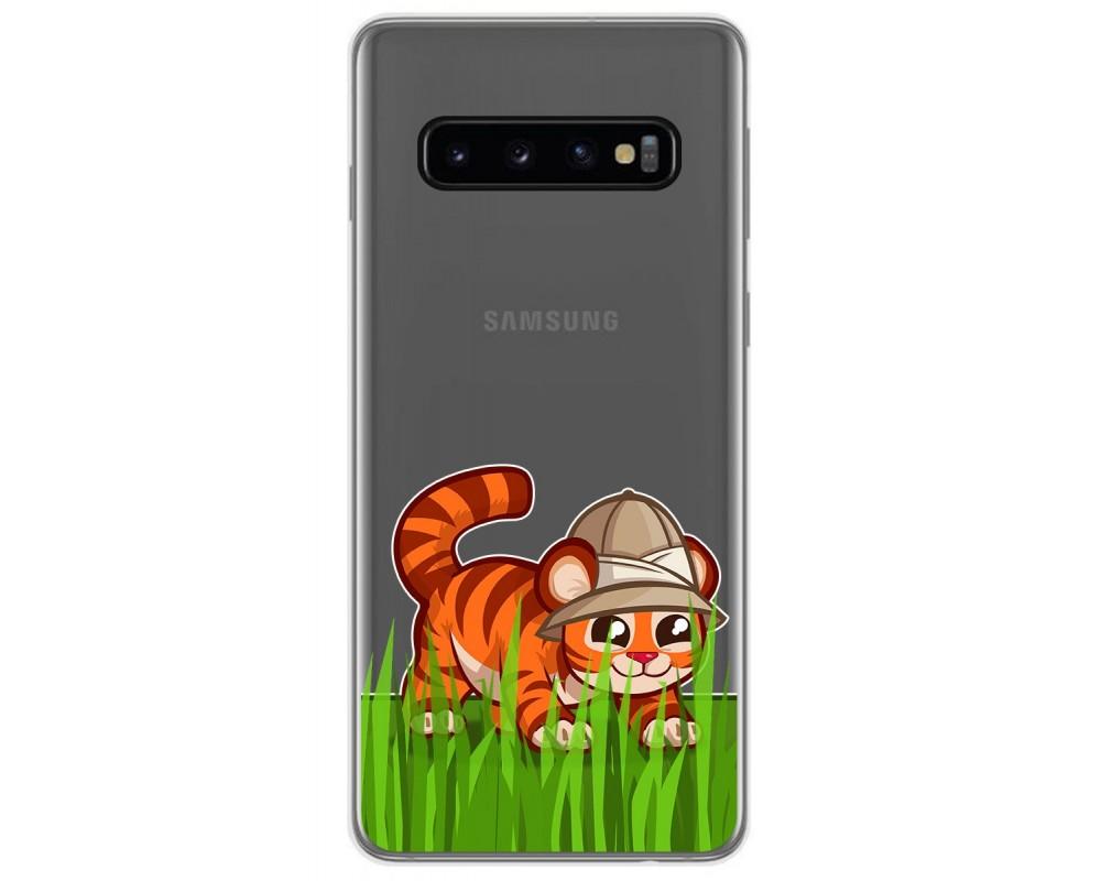 Funda Gel Transparente para Samsung Galaxy S10 diseño Tigre Dibujos