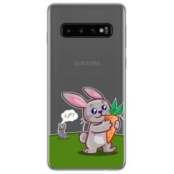 Funda Gel Transparente para Samsung Galaxy S10 Plus diseño Conejo Dibujos