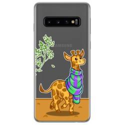 Funda Gel Transparente para Samsung Galaxy S10 Plus diseño Jirafa Dibujos