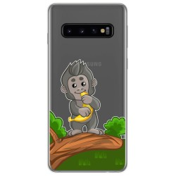 Funda Gel Transparente para Samsung Galaxy S10 Plus diseño Mono Dibujos