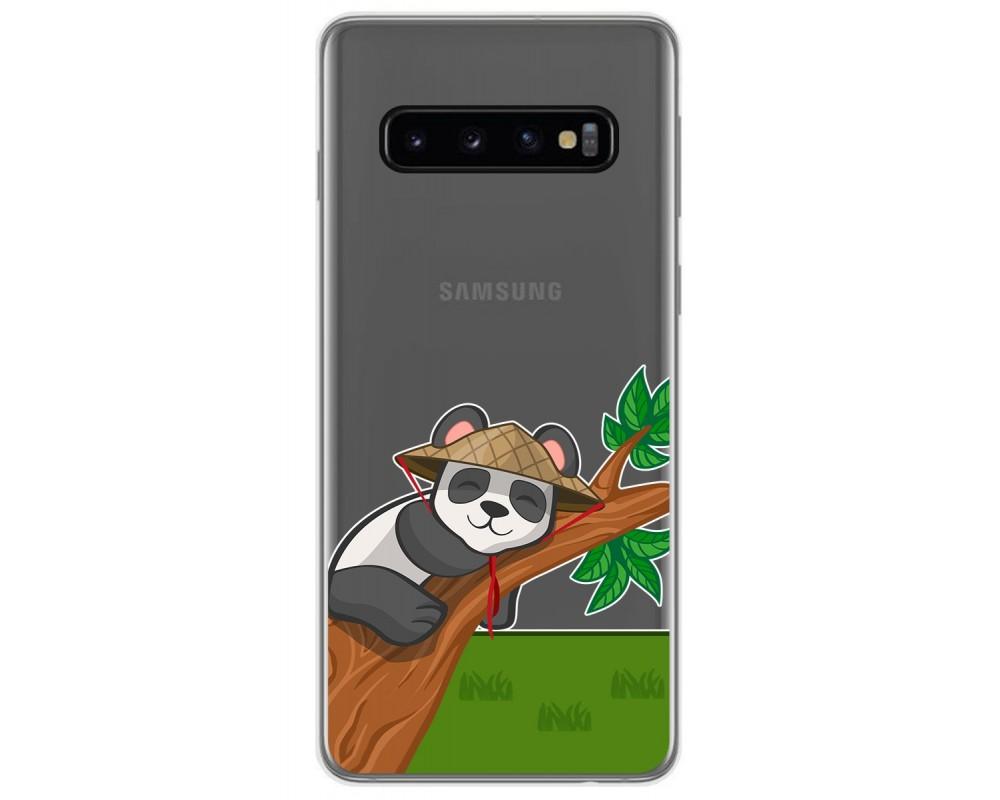 Funda Gel Transparente para Samsung Galaxy S10 Plus diseño Panda Dibujos