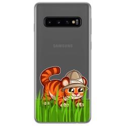 Funda Gel Transparente para Samsung Galaxy S10 Plus diseño Tigre Dibujos