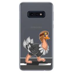 Funda Gel Transparente para Samsung Galaxy S10e diseño Avestruz Dibujos
