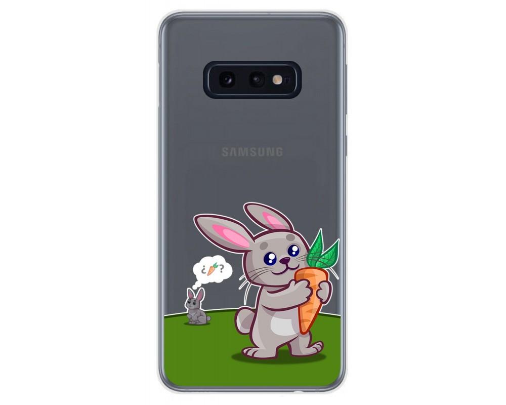 Funda Gel Transparente para Samsung Galaxy S10e diseño Conejo Dibujos