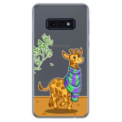 Funda Gel Transparente para Samsung Galaxy S10e diseño Jirafa Dibujos