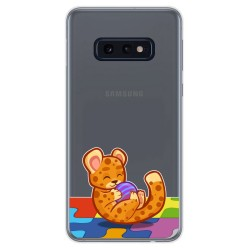 Funda Gel Transparente para Samsung Galaxy S10e diseño Leopardo Dibujos