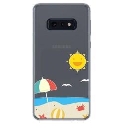 Funda Gel Transparente para Samsung Galaxy S10e diseño Playa Dibujos