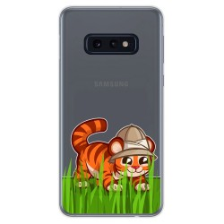 Funda Gel Transparente para Samsung Galaxy S10e diseño Tigre Dibujos