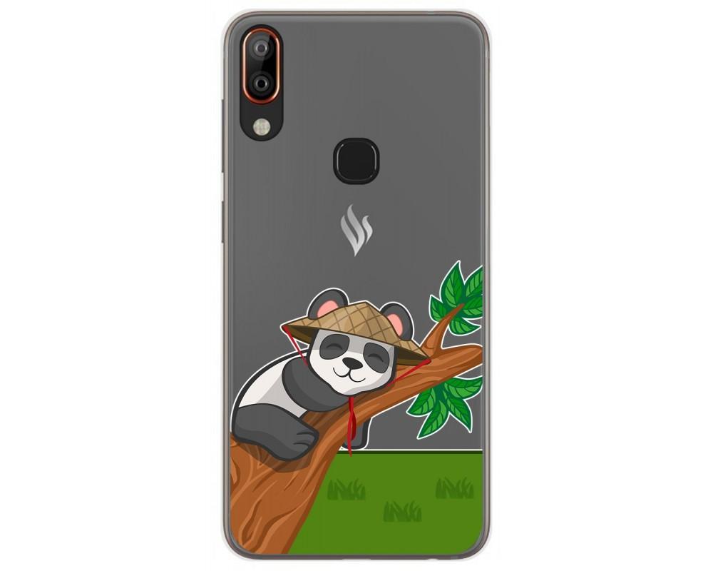 Funda Gel Transparente para Vsmart Active 1+ Plus diseño Panda Dibujos