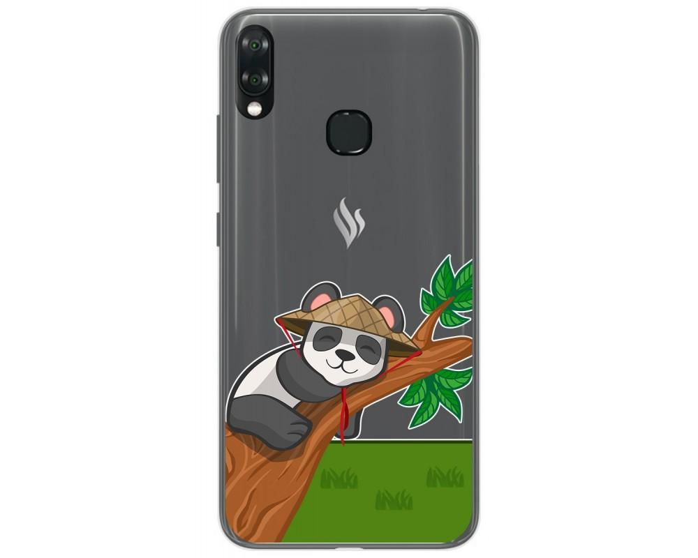 Funda Gel Transparente para Vsmart Joy 1+ Plus diseño Panda Dibujos