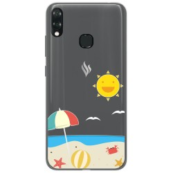 Funda Gel Transparente para Vsmart Joy 1+ Plus diseño Playa Dibujos