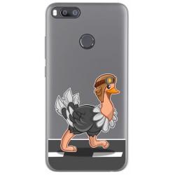 Funda Gel Transparente para Xiaomi Mi 5X / Mi A1 diseño Avestruz Dibujos