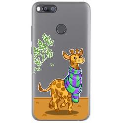Funda Gel Transparente para Xiaomi Mi 5X / Mi A1 diseño Jirafa Dibujos