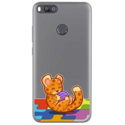 Funda Gel Transparente para Xiaomi Mi 5X / Mi A1 diseño Leopardo Dibujos