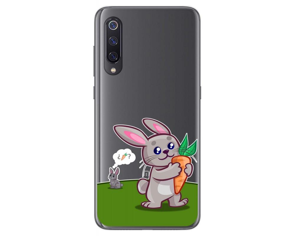 Funda Gel Transparente para Xiaomi Mi 9 diseño Conejo Dibujos
