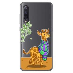 Funda Gel Transparente para Xiaomi Mi 9 diseño Jirafa Dibujos