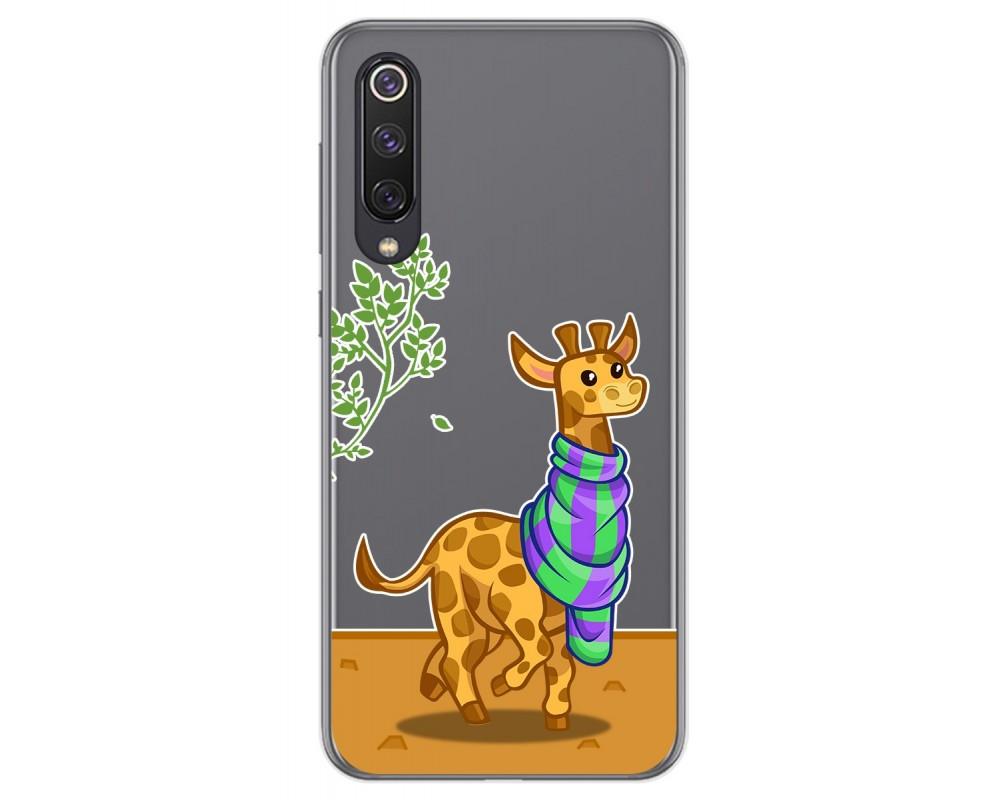 Funda Gel Transparente para Xiaomi Mi 9 SE diseño Jirafa Dibujos