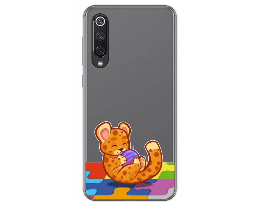 Funda Gel Transparente para Xiaomi Mi 9 SE diseño Leopardo Dibujos