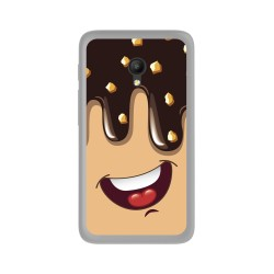 Funda Gel Tpu para Orange Rise 51 / Alcatel Pixi 4 (5) 4G / Vodafone Smart Turbo 7 Diseño Helado Chocolate Dibujos