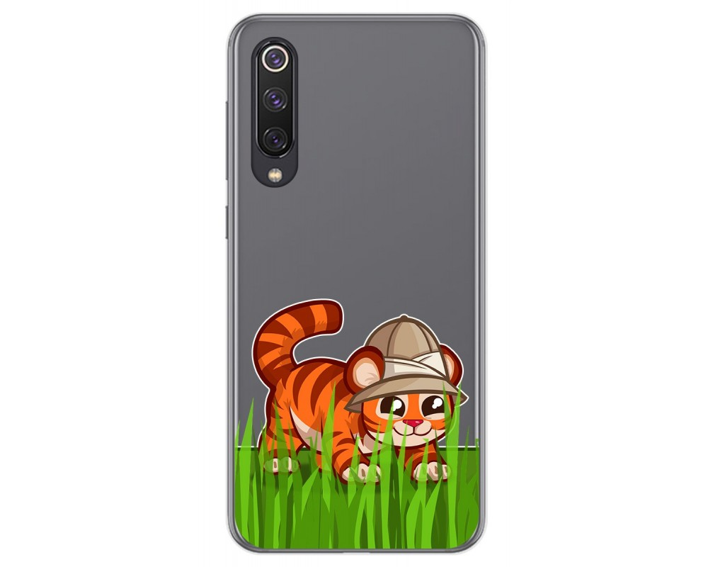 Funda Gel Transparente para Xiaomi Mi 9 SE diseño Tigre Dibujos
