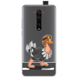 Funda Gel Transparente para Xiaomi Mi 9T / Mi 9T Pro diseño Avestruz Dibujos