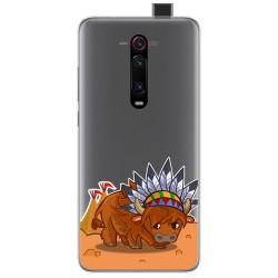 Funda Gel Transparente para Xiaomi Mi 9T / Mi 9T Pro diseño Bufalo Dibujos