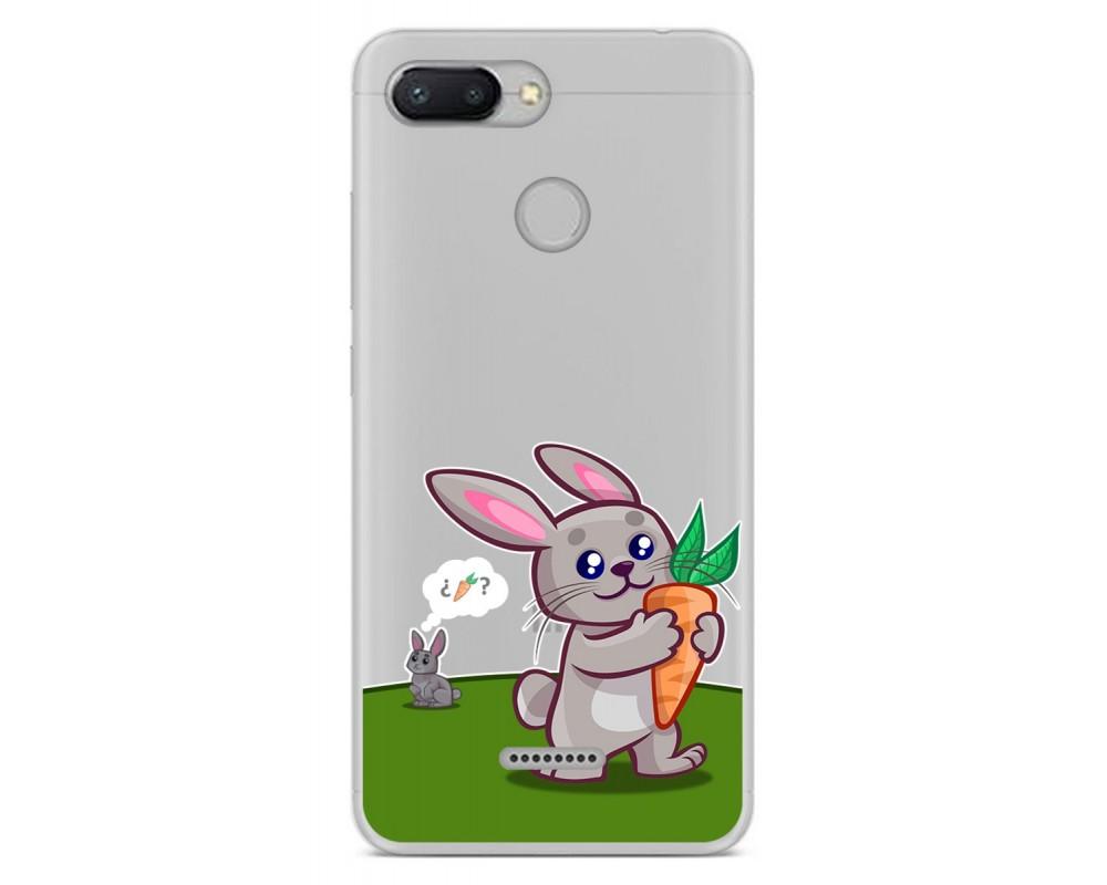 Funda Gel Transparente para Xiaomi Redmi 6 diseño Conejo Dibujos