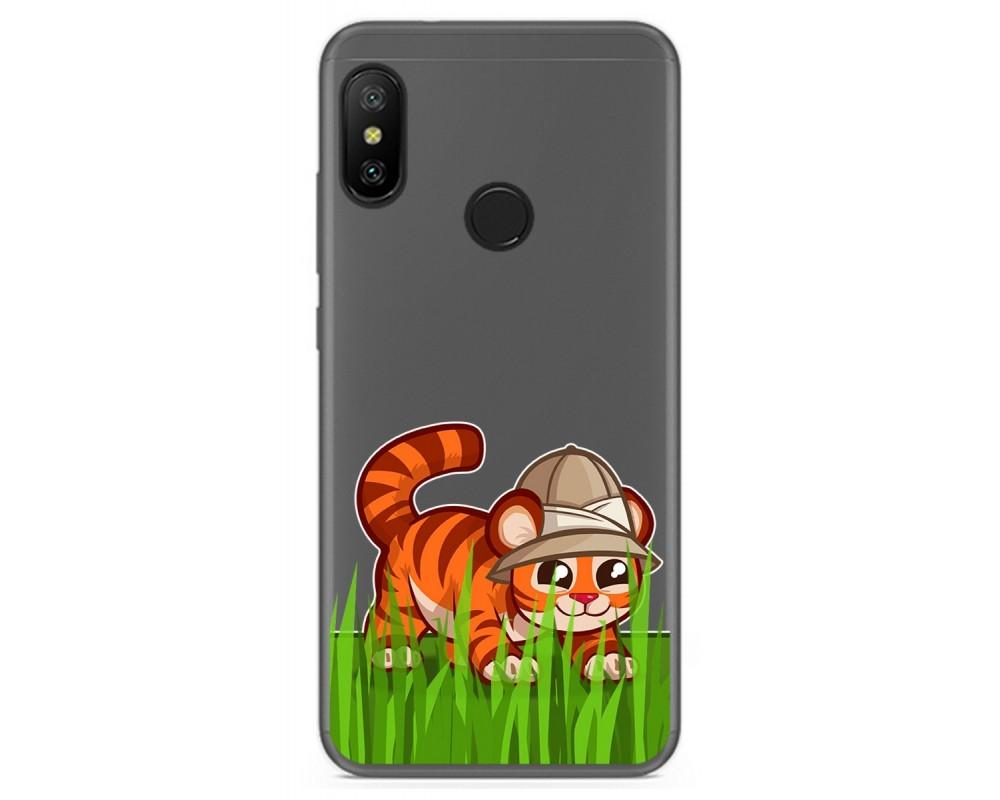 Funda Gel Transparente para Xiaomi Redmi 6 Pro / Mi A2 Lite diseño Tigre Dibujos