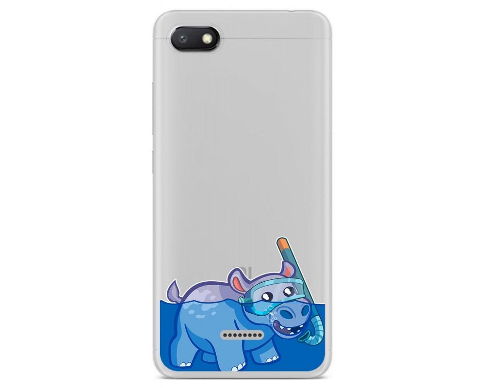 Funda Gel Transparente para Xiaomi Redmi 6A diseño Hipo Dibujos