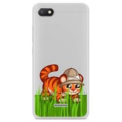 Funda Gel Transparente para Xiaomi Redmi 6A diseño Tigre Dibujos