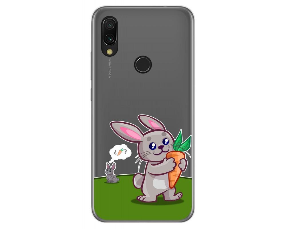 Funda Gel Transparente para Xiaomi Redmi 7 diseño Conejo Dibujos