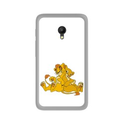Funda Gel Tpu para Orange Rise 51 / Alcatel Pixi 4 (5) 4G / Vodafone Smart Turbo 7 Diseño Leones Dibujos