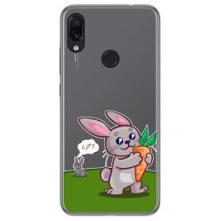 Funda Gel Transparente para Xiaomi Redmi Note 7 diseño Conejo Dibujos