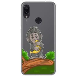 Funda Gel Transparente para Xiaomi Redmi Note 7 diseño Mono Dibujos