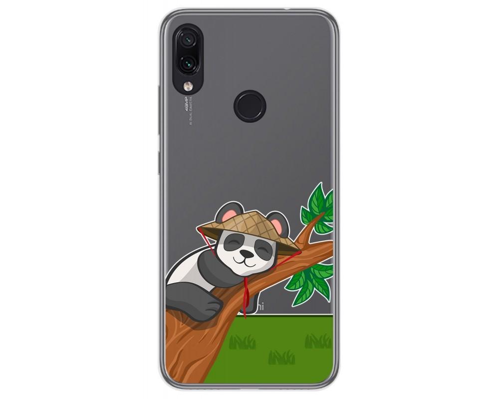 Funda Gel Transparente para Xiaomi Redmi Note 7 diseño Panda Dibujos