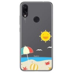 Funda Gel Transparente para Xiaomi Redmi Note 7 diseño Playa Dibujos