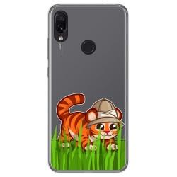 Funda Gel Transparente para Xiaomi Redmi Note 7 diseño Tigre Dibujos