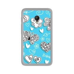 Funda Gel Tpu para Orange Rise 51 / Alcatel Pixi 4 (5) 4G / Vodafone Smart Turbo 7 Diseño Mariposas Dibujos