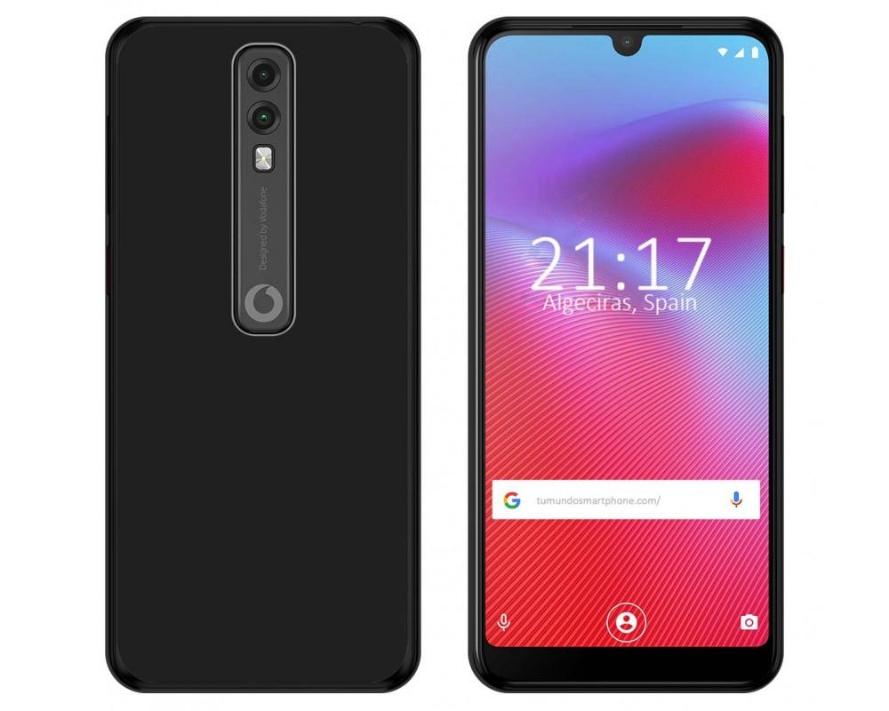 Funda Gel Tpu para Vodafone Smart V10 Color Negra