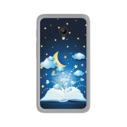 Funda Gel Tpu para Orange Rise 51 / Alcatel Pixi 4 (5) 4G / Vodafone Smart Turbo 7 Diseño Libro-Cuentos Dibujos
