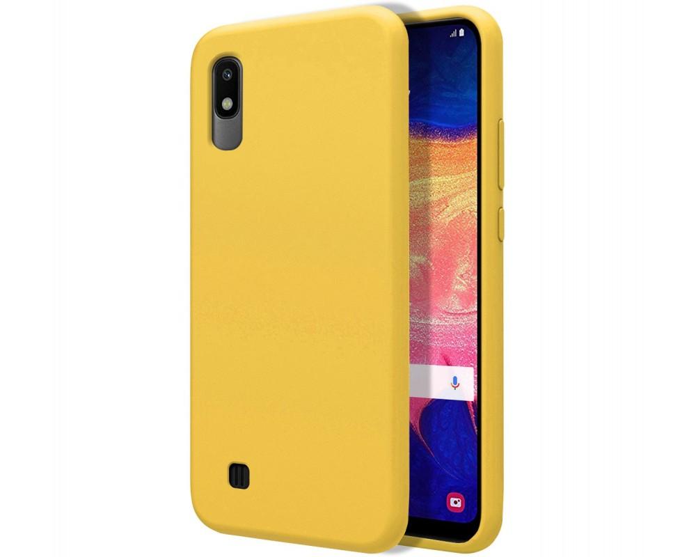 Funda Silicona Líquida Ultra Suave para Samsung Galaxy A10 color Amarilla