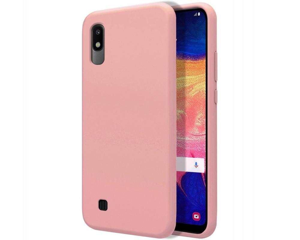 Funda Silicona Líquida Ultra Suave para Samsung Galaxy A10 color Rosa
